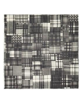 Larioseta - Tartan Patchwork-Print Scarf
