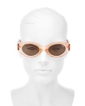 Quay - Women's See Me Smile Round Sunglasses, 54mm