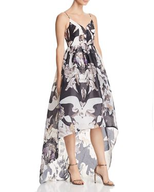 BARIANO Printed Organza Gown - 100% Exclusive in Dark Floral