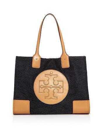 2503c8e457c9 Tory Burch - Ella Small Flannel   Leather Tote