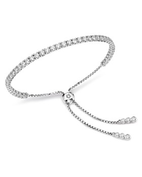 Bloomingdale's - Diamond Tennis Bolo Bracelet in 14K White Gold, 3.5 ct. t.w. - 100% Exclusive