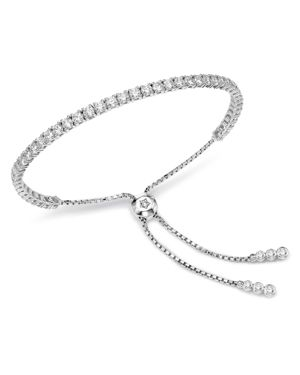 Bloomingdale S Diamond Tennis Bolo Bracelet In 14k White Gold 3 5