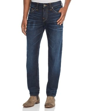 TRUE RELIGION ROCCO SLIM FIT JEANS IN DARK TUNNEL
