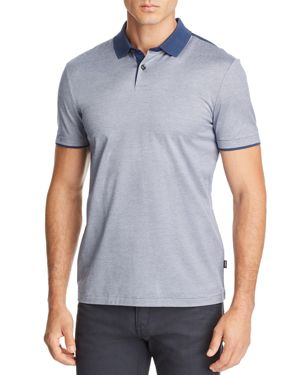 BOSS PITTON MICRO-STRIPE POLO SHIRT