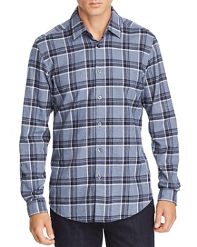 BOSS - Letterio Plaid Flannel Regular Fit Shirt