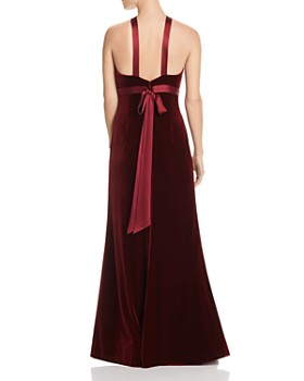 Aidan Mattox - Satin-Trimmed Velvet Gown - 100% Exclusive
