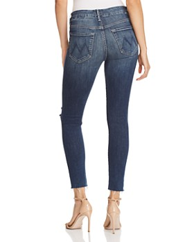 MOTHER - The Looker High-Rise Ankle Fray Skinny Jeans in Close to the Edge