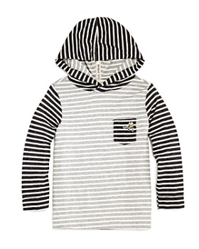 Scotch Shrunk - Boys' Striped Hockey Shirt with Hood - Little Kid, Big Kid