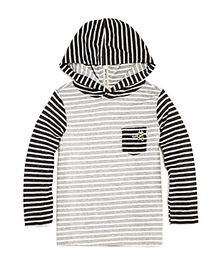 Scotch Shrunk Boys Striped Hockey Shirt with Hood  Little Kid Big Kid