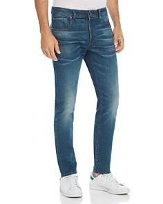 G-STAR RAW - 3301 Slim Fit Stretch Jeans in Medium Aged