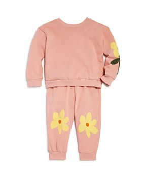 Michelle by Comune - Girls' Vivienne Flower Sweatshirt & Jazmine Sweatpants - Little Kid