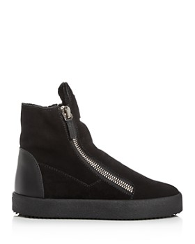 Giuseppe Zanotti - Women's Suede & Shearling High Top Sneakers
