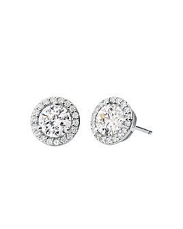 Michael Kors - Sterling Silver Pavé Stud Earrings in 14K Gold-Plated Sterling Silver, 14K Rose Gold-Plated Sterling Silver or Solid Sterling Silver