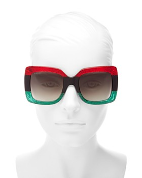 Gucci - Women's Urban Web Block Oversized Square Sunglasses, 51mm