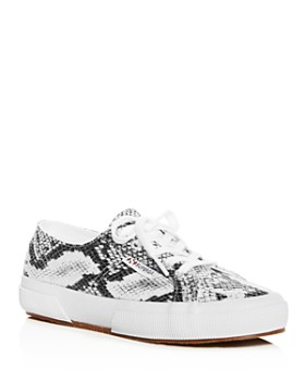 Superga - Women's Classic Snake-Print Lace Up Sneakers