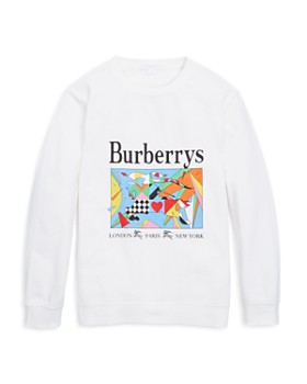burberry unisex patchwork graphic shirt little kid - Girls Christmas Shirts