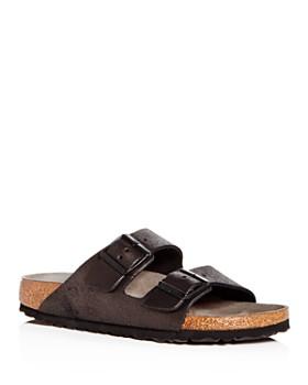 Birkenstock - Women's Arizona Washed Leather Slide Sandals