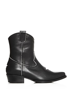 Anine Bing - Women's Elton Leather Low-Heel Western Boots