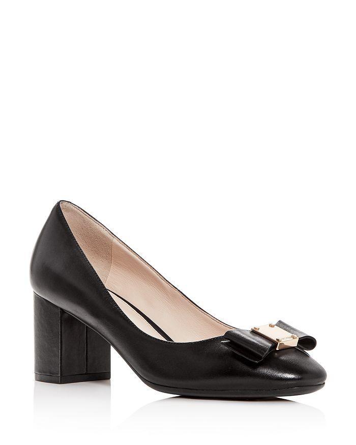 Cole Haan - Women s Tali Leather Block-Heel Pumps 62e047ce3b