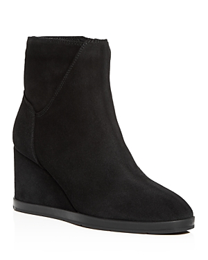 Aquatalia Women's Judy Weatherproof Suede Wedge Heel Booties