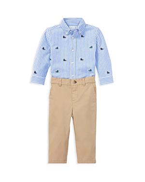Ralph Lauren Boys SneakerPrint Oxford Shirt  Chinos Set  Baby