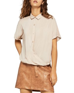BCBGENERATION DRAPED CROSSOVER TOP