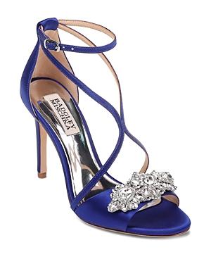 Badgley Mischka Women's Vanessa Open Toe Satin High-Heel Sandals
