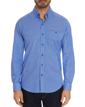 ROBERT GRAHAM CARRISON DOT-PRINT TAILORED FIT SHIRT - 100% EXCLUSIVE