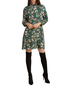 VELVET BY GRAHAM & SPENCER FLORAL PRINT A-LINE DRESS