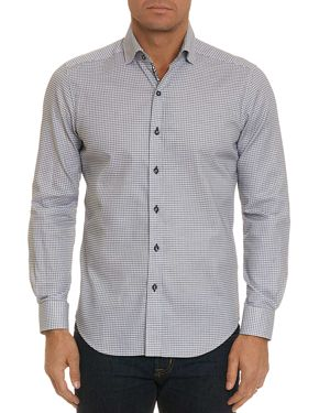 ROBERT GRAHAM HOBSON GEOMETRIC-PRINT TAILORED FIT SHIRT - 100% EXCLUSIVE