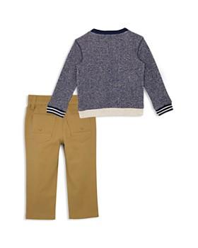 Hudson - Boys' Terry Rock Life Sweater & Stretch Twill Pants Set - Little Kid