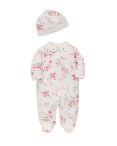Little Me Girls' Floral-Print Footie & Hat Set - Baby - Bloomingdale's_0