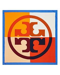 Tory Burch - Color-Block Logo Silk Scarf