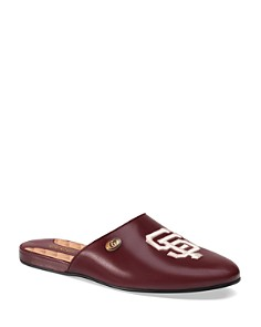 Gucci - Women's San Francisco Giants™ Round Toe Leather Mules