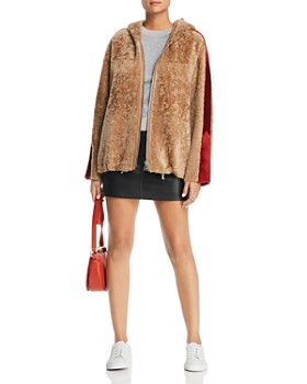 Maximilian Furs - Hooded Lamb Shearling Jacket - 100% Exclusive