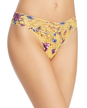 f5cc556bad Hanky Panky Original-Rise Printed Lace Thong In Yellow Multi ...