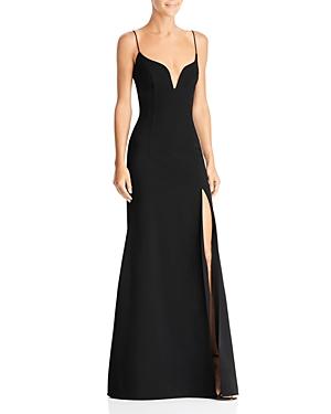 Jill Jill Stuart Plunge-Neck Gown