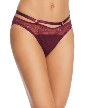 Madame X Lace Strappy Bikini, Dark Cherry