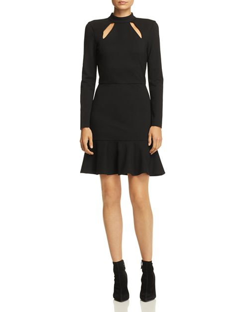 Alice and Olivia - Marisela Ruffle-Hem Cutout Dress