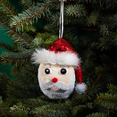 Bloomingdale's - Sequin Santa Face Ornament - 100% Exclusive