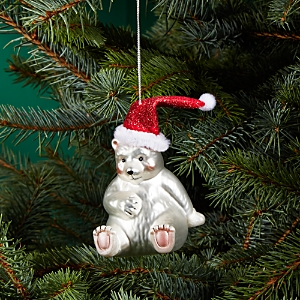 Bloomingdale's Polar Bear with Hat Glass Ornament - 100% Exclusive