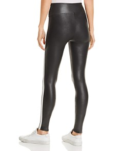 SPANX® - Faux Leather Stripe Leggings