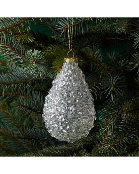 Bloomingdale's - Sparkle Glass Drop Ornament - 100% Exclusive