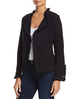 NIC and ZOE - Fringed Mixed-Texture Jacket