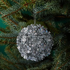 Bloomingdale's Glittered Flower Ball Ornament - 100% Exclusive_0