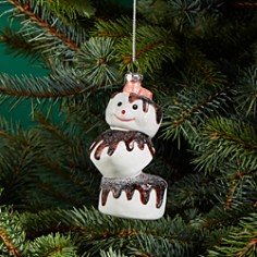 Bloomingdale's Marshmallow Snowman Glass Ornament - 100% Exclusive_0