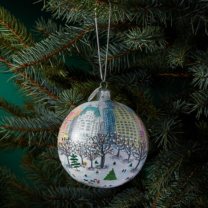 Michael Storrings - Central Park Holiday Glass Ball Ornament