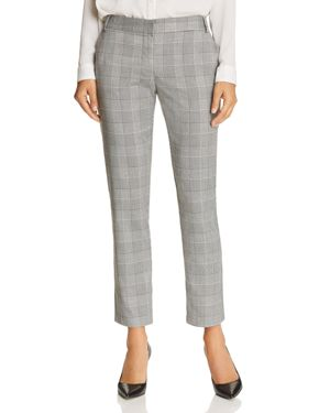 CROPPED GLEN PLAID PANTS - 100% EXCLUSIVE
