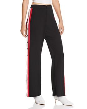 Bardot - Side-Stripe Snap Pants