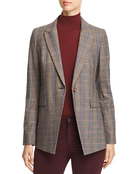 Lafayette 148 New York - Heather Glen Plaid Blazer